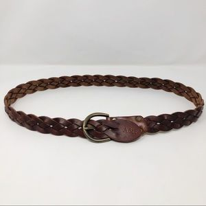 Abercrombie & Fitch Tan Leather Braided Belt Small